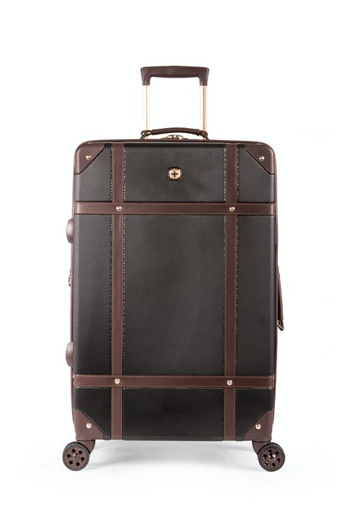 "Swissgear 7739 26"" Trunk Expandable Spinner Luggage Matching rose gold zippers, wheels, lift handle and SWISSGEAR logo"