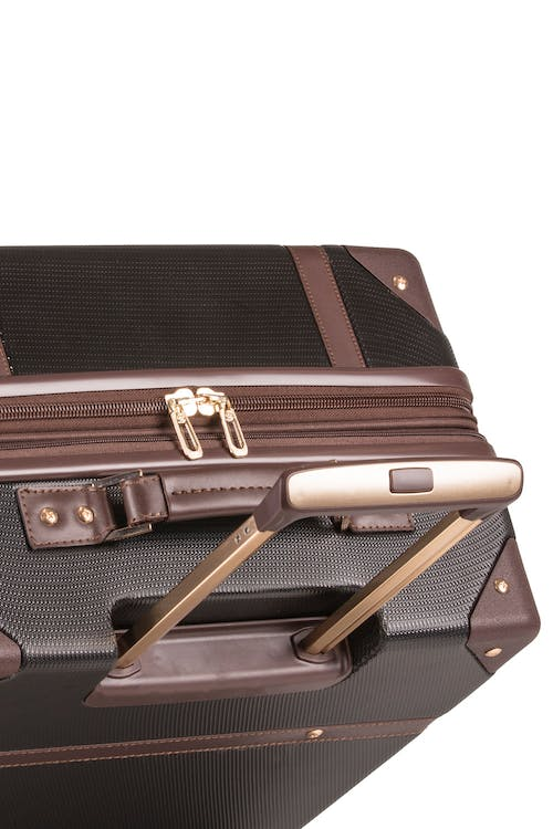 "Swissgear 7739 26"" Trunk Expandable Spinner Luggage Aluminum push-button locking telescopic handle"
