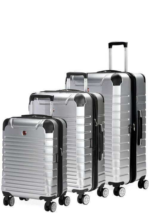 Swissgear 7782 Expandable Hardside Luggage 3pc Set - Silver