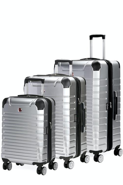 Swissgear 7782 Expandable 3pc Hardside Luggage Set - Silver