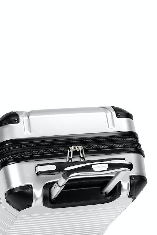 Swissgear 7782 Expandable Hardside Luggage Aluminum telescopic, push-button locking handle