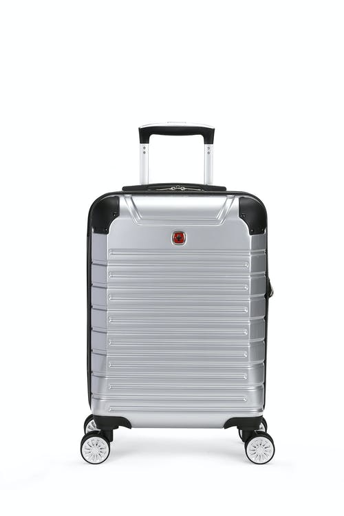"Swissgear 7782 18"" Expandable Hardside Spinner Luggage plated exterior"