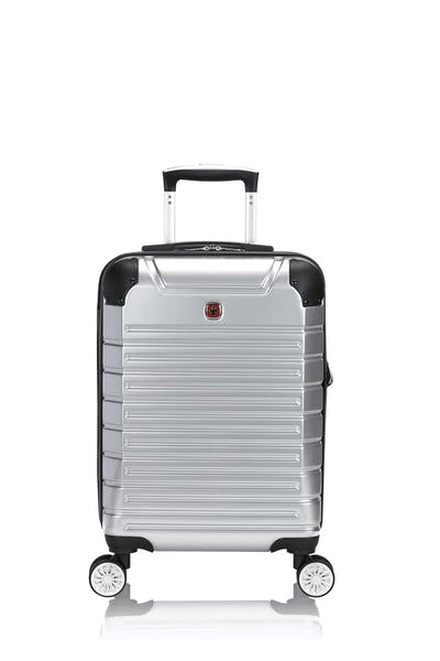 "Swissgear 7782 18"" Expandable Carry On Hardside Spinner Luggage - Silver"