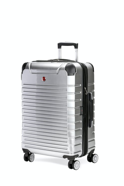 "Swissgear 7782 27"" Expandable Hardside Spinner Luggage - Silver"