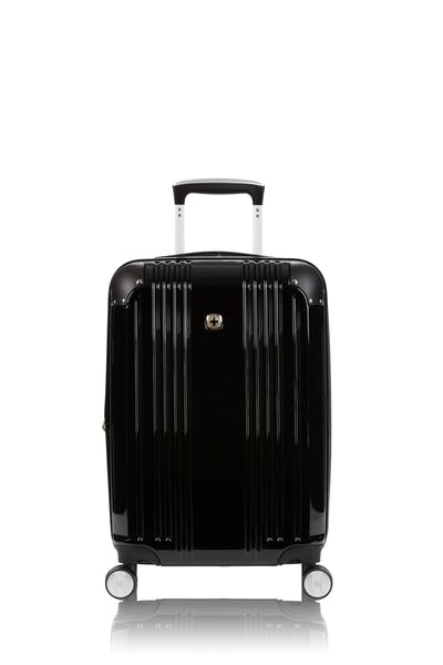 """Swissgear 7786 20"""" Expandable Carry On Hardside Spinner Luggage - Black"""