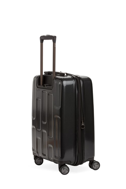 """Swissgear 7796 20"""" USB Expandable Carry On Hardside Spinner Luggage Top co-molded grab handle"""