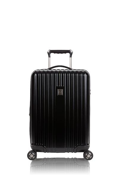 "Swissgear 7910 20"" USB Expandable Carry On Hardside Spinner Luggage - Black"