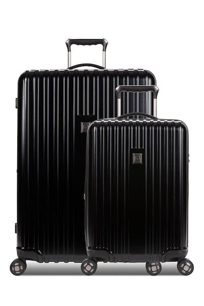 Swissgear 7910 Expandable 2pc Hardside Spinner Luggage Set - Black