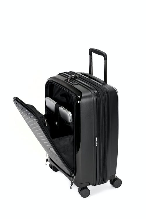 "Swissgear 8836 20"" Expandable Hardside Spinner Luggage Front expandable pocket"