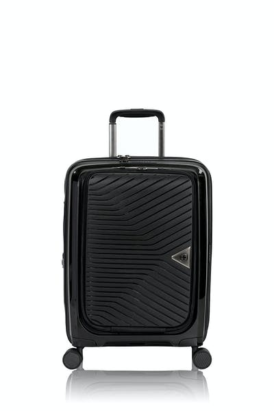 "Swissgear 8836 20"" Expandable Laptop Carry On Hardside Spinner Luggage - Black"