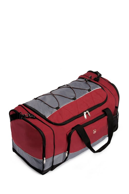 """SWISSGEAR 9000 26"""" Apex Duffel Bag Bungee-cord system to hold extra gear"""