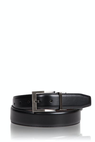 Swissgear Reversible Contemporary Buckle Leather Belt - Black