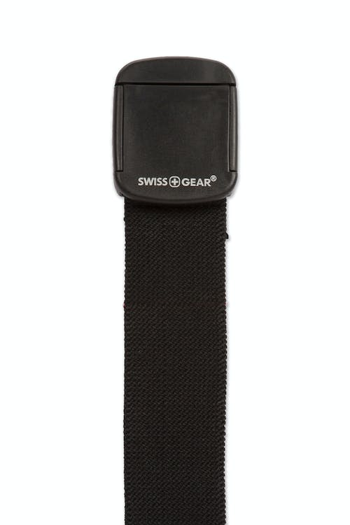 Swissgear Stretch Non-Metallic Clip Buckle - Non-reversible stretch cotton belt