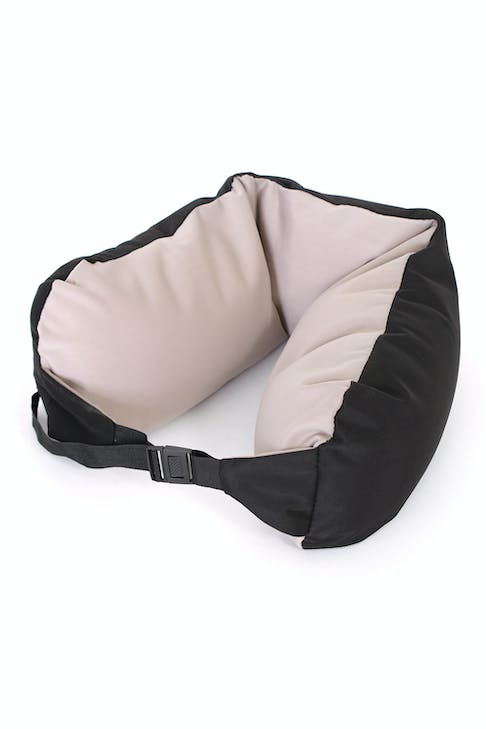 SWISSGEAR CONVERTIBLE TRAVEL PILLOW  Polystyrene bead fill for unlimited contouring comfort