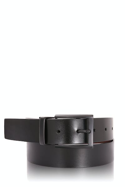 Swissgear Reversible Belt Black Matte Buckle - Black/Brown