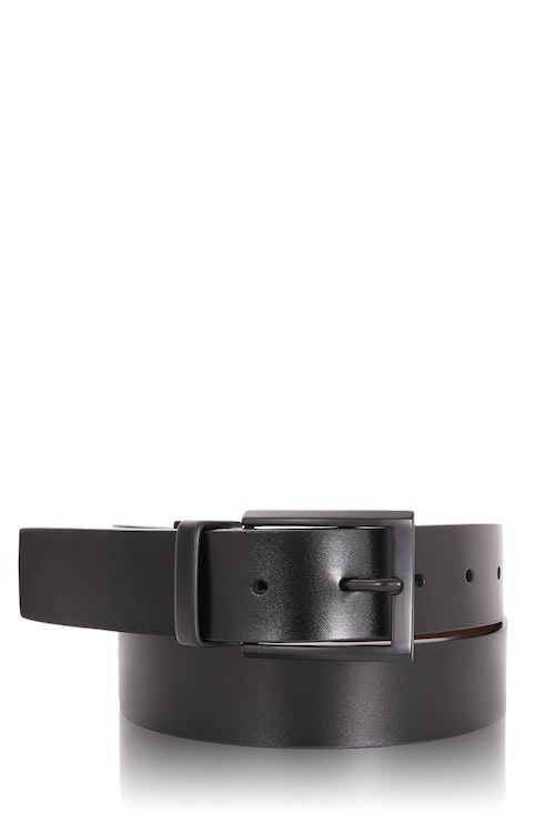 designer h belt u1iw  Swissgear Reversible Belt Black Matte Buckle