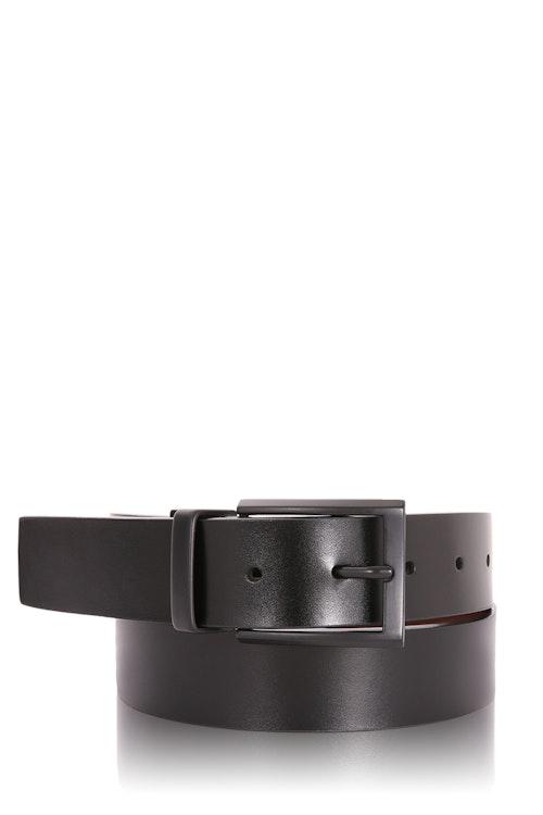 Swissgear Reversible Belt Black Matte Buckle L - Black/Brown
