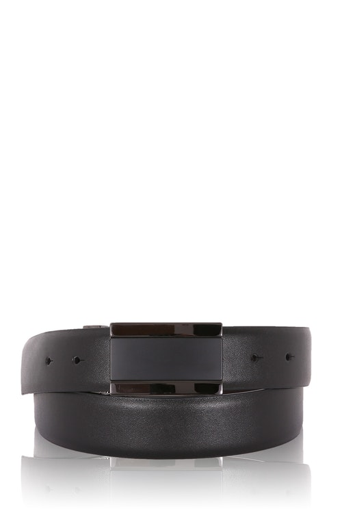 Swissgear Men's Plaque Buckle Belt - Black/ M