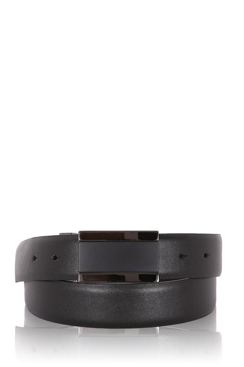 Swissgear Men's Plaque Buckle Belt - Black/ XL