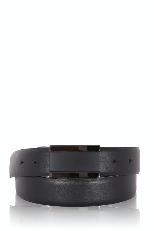 Swissgear Mens Plaque Buckle Leather Belt