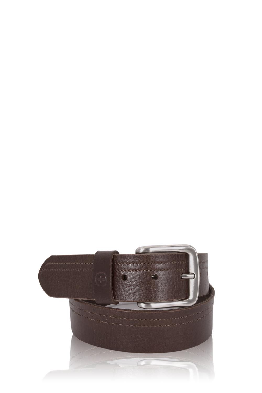 SWISSGEAR Square Buckle Brown Italian Leather