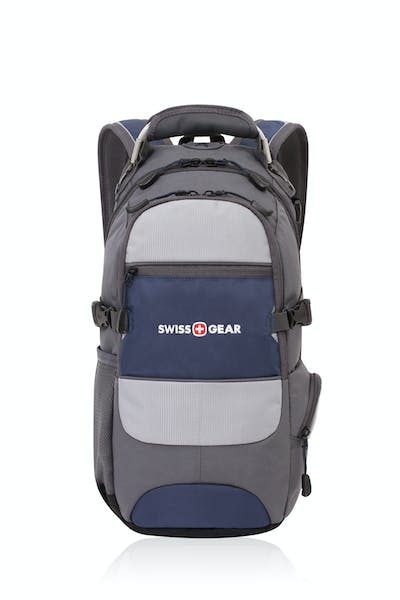 SWISSGEAR 1651 CITY PACK BACKPACK FRONT ZIP POCKET AND ZIPPER CLOSURES