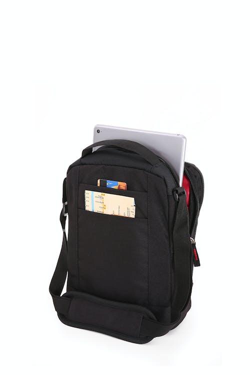 SWISSGEAR 2310 Vertical Boarding Bag with iPad Sleeve Rear ticket & boarding pass pocket