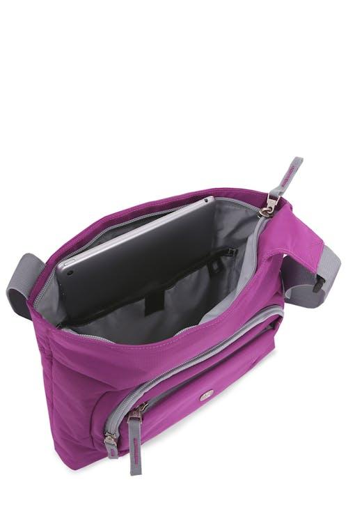 Swissgear 2359 Jewel Crossbody main compartment has mesh pocket