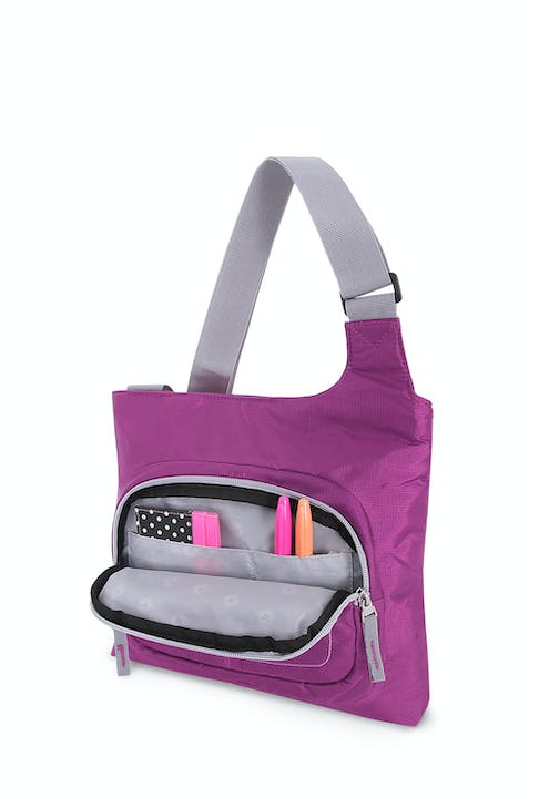 Swissgear 2359 Jewel Crossbody organizer compartment with multiple divider pockets