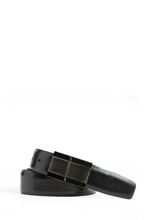Swissgear Reversible Solid Buckle Leather Belt - Black Brown