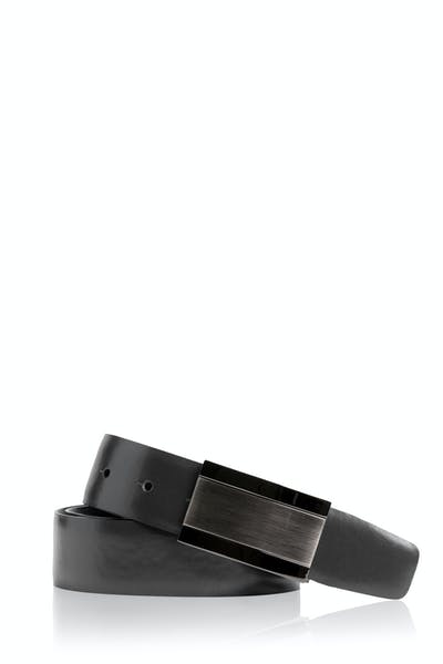 Swissgear Reversible Solid Buckle Leather Belt - Black Brown