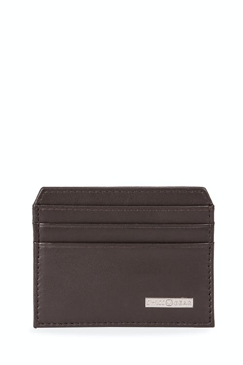Swissgear Color Block Card Case Wallet - Dark Brown