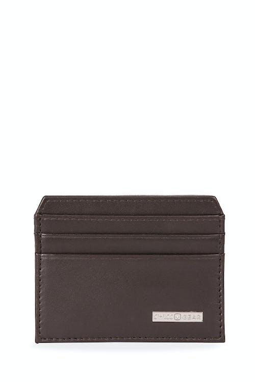 Swissgear Color Block Card Case - Dark Brown