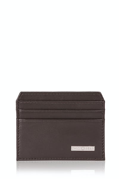 Swissgear Color Block Card Case - Dark Brown