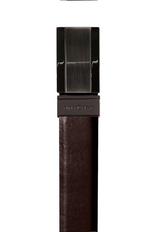 Swissgear Reversible Leather Solid Buckle Belt - Brown Side