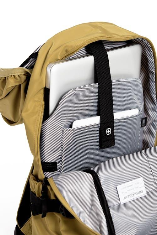 "Swissgear 2703 Laptop Backpack Internal padded laptop pocket that fits most 15"" laptops"
