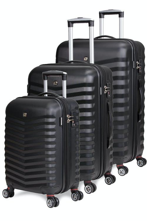 Swissgear 3230 Expandable 3pc Hardside Luggage set - Black