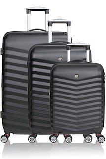 SWISSGEAR 3230 Expandable Hardside Luggage 3pc set - Black