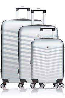 SWISSGEAR 3230 Expandable Hardside Luggage 3pc set - Silver