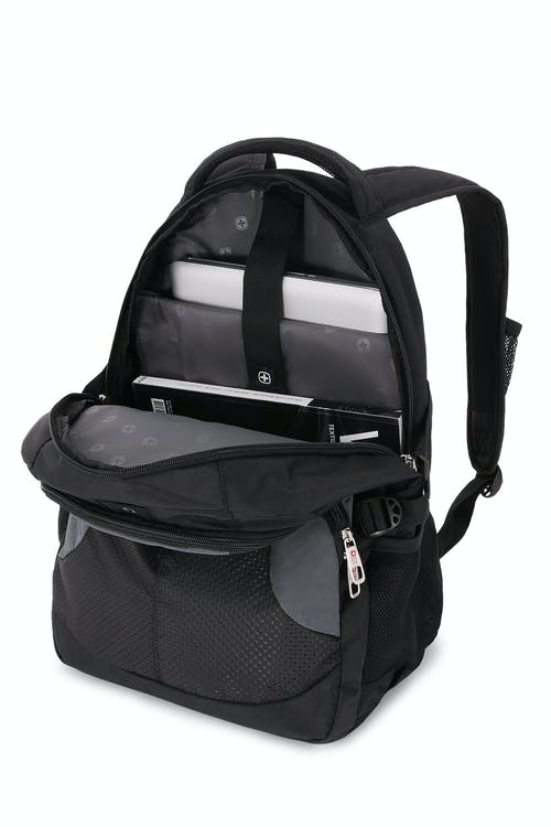 "SWISSALPS 3259 Laptop Backpack Padded laptop sleeve designed to fit most 15"" portable computers"