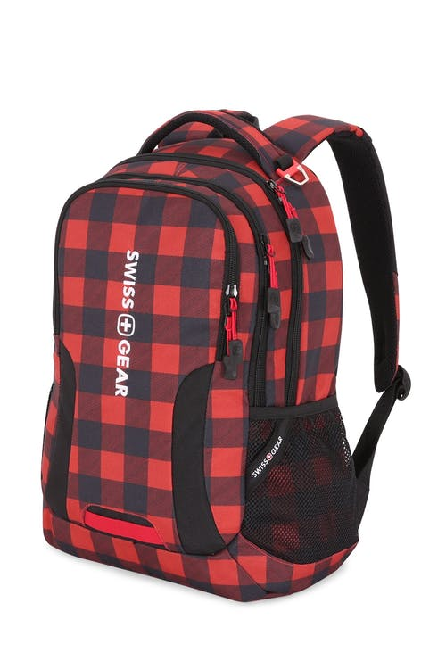 Swissgear 5503 Backpack - Lumberjack Print/Black/Red
