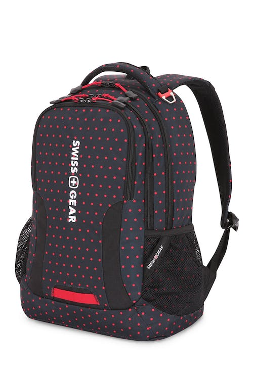 Swissgear 5503 Backpack - Dots/Black/Red