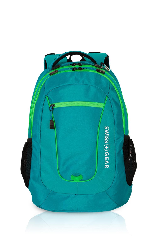Swissgear 5603 Backpack - Raffia Teal/Green Orbit