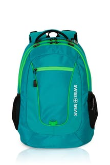 Swissgear 6601 Backpack - Raffia Teal/Green Orbit