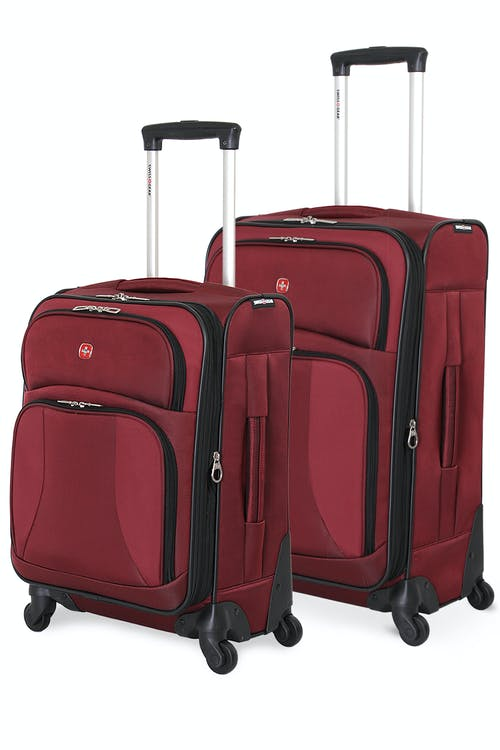 SWISSGEAR 7211 EXPANDABLE SPINNER LUGGAGE  2pc Set - Burgundy