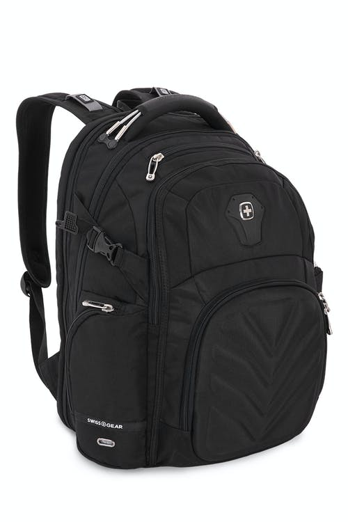 Swissgear 5709 ScanSmart Backpack  Ergonomically contoured, padded shoulder straps