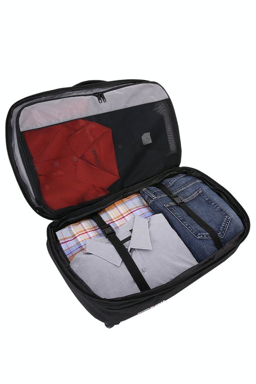 SWISSGEAR 1900 Travel Backpack Fully opening compartment w/ adjustable clothing straps