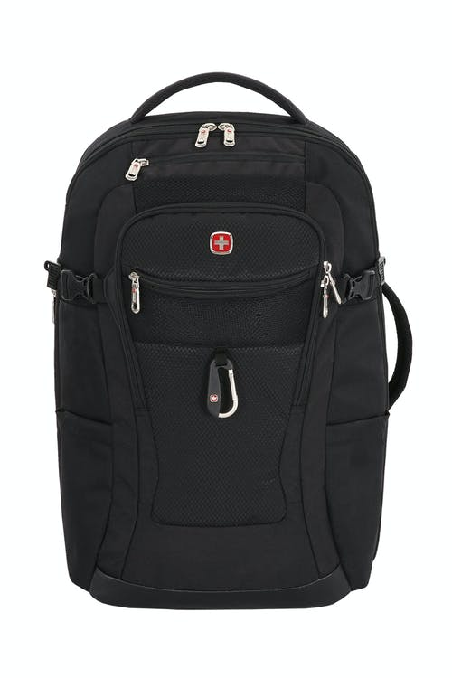 Swissgear 1900 Travel Laptop Backpack Side, buckled compression straps