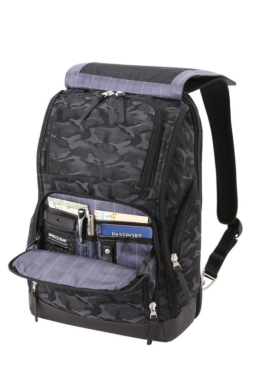 Swissgear 5981 Laptop Backpack Front-zippered compartments