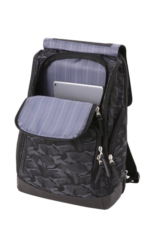 Swissgear 5981 Laptop Backpack side pocket for cradling chargers